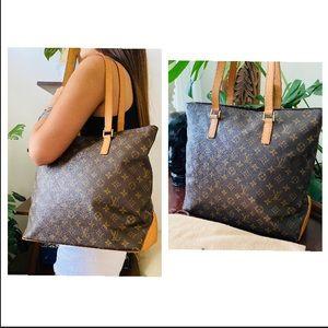 CABAS MEZZO Louis Vuitton large tote bag purse zip